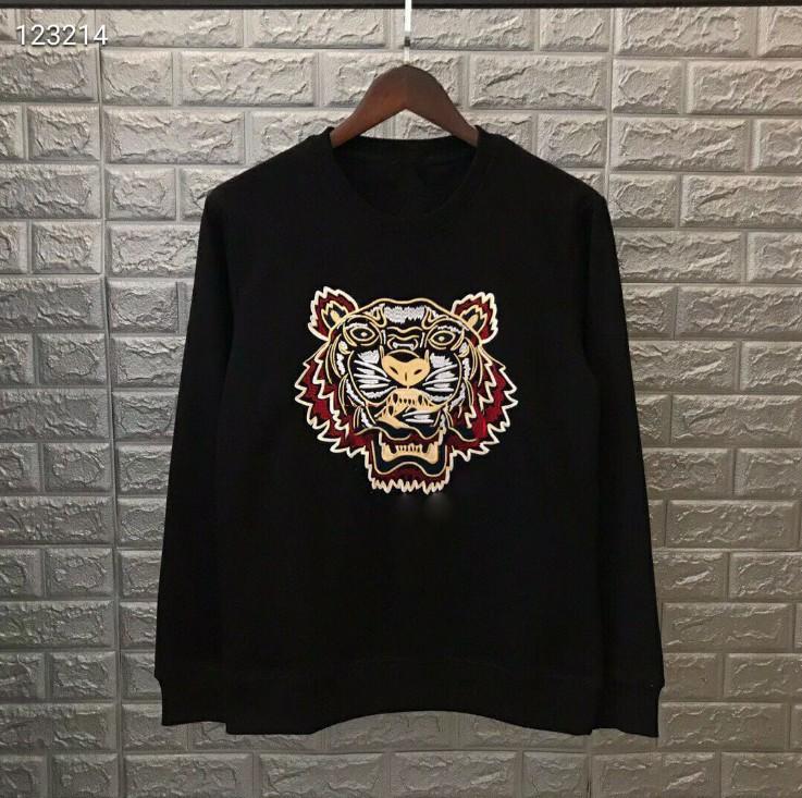 Fashion-Tiger Head Hoodie Felpe con felpa ricamato magliette pullover magliette autunno primavera unisex maglione casual streetwear di alta qualità