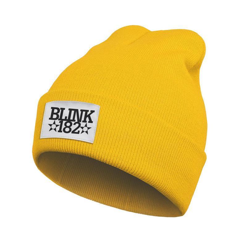 Unisex Fashion Beanie Hats Blink 182 Punk rock Pentagram Winter Warm Wool Knitted Cap since 1992