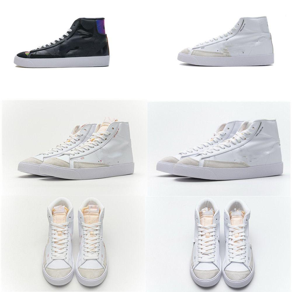 erkekler kadınlarda Blazer Mid '77 Vintage bırakma 2020 sıcak Beyaz Siyah Cactus Hiper Erkekler Kadınlar Tasarımcı Spor Atletik Sneaker