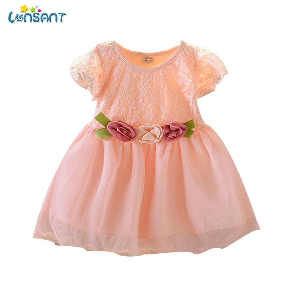 Vestido local para niña 2019 Nuevas marcas Vestidos de niña Floral Hollow Out Diseño Princesa Vestido Ropa para niños Ropa para niños N30 Q1223