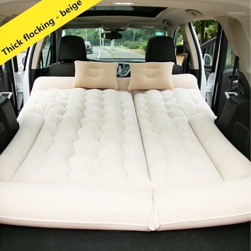 164 * 132 cm Camping voiture voiture gonflable matelas de voiture matelas de matelas d'air Coussin d'oreiller beige / gris / noir de voyage gonflable