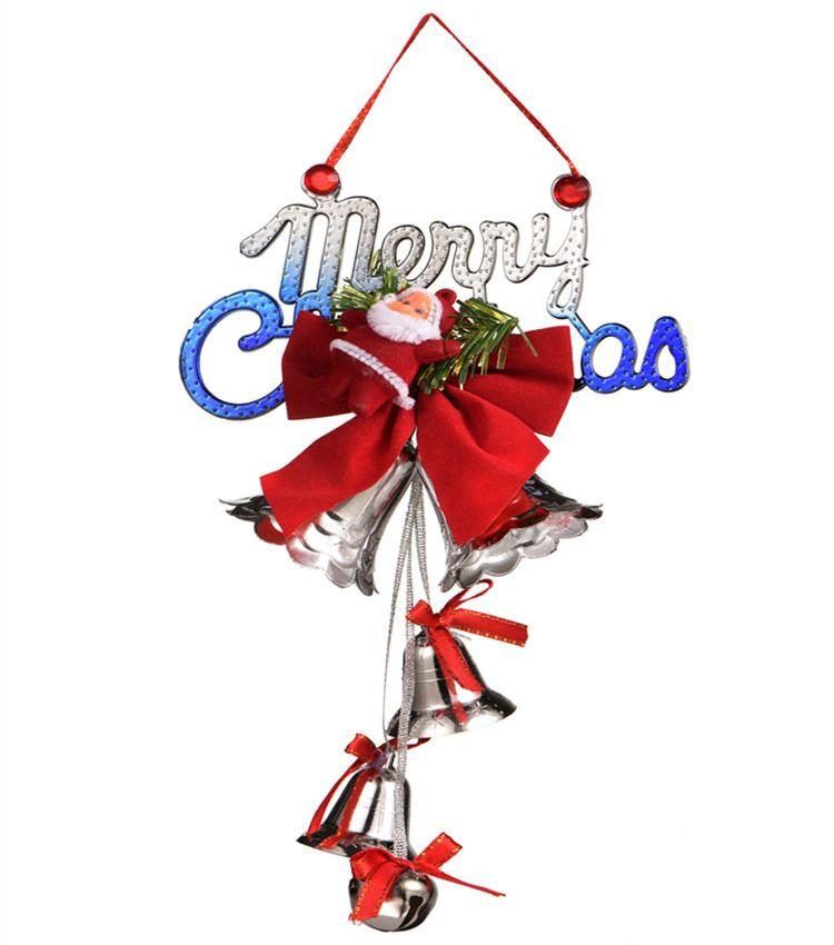Yılbaşı süsü Noel Baba çan 5 stil karikatür bebek aksesuarları Noel ağacı kolye NWB2964 dekorasyon