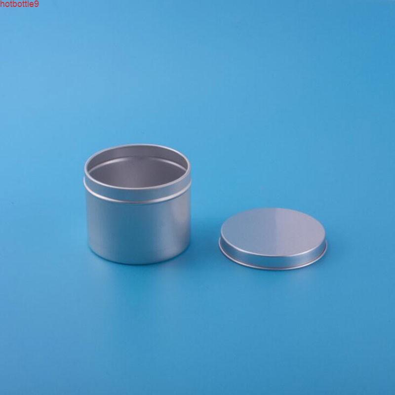 180ml Ceam ContainerNail Art Makeup Lip Gloss Tool Metal Aluminum Round Tin Cans Box Lightweight 20pcs/lothigh quatity
