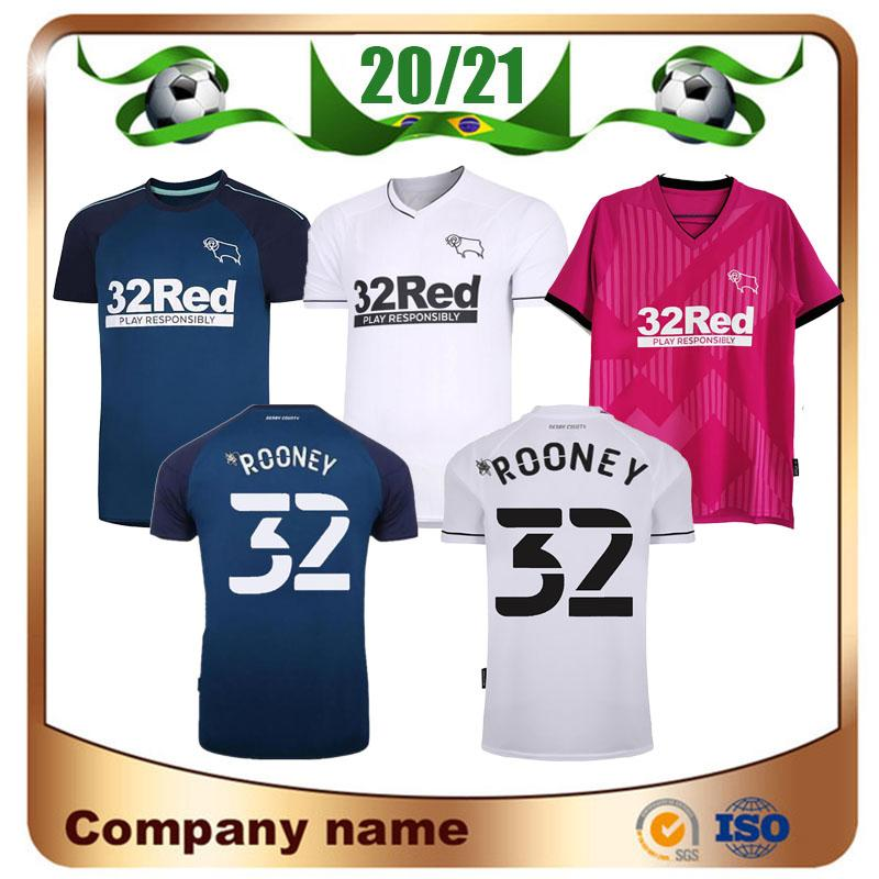 20/21 Derby County Football Club Soccer Jerseys 2021 Home White Wisdom Waghorn Martin Soccer Shirt Hamer Rooney Football Offe