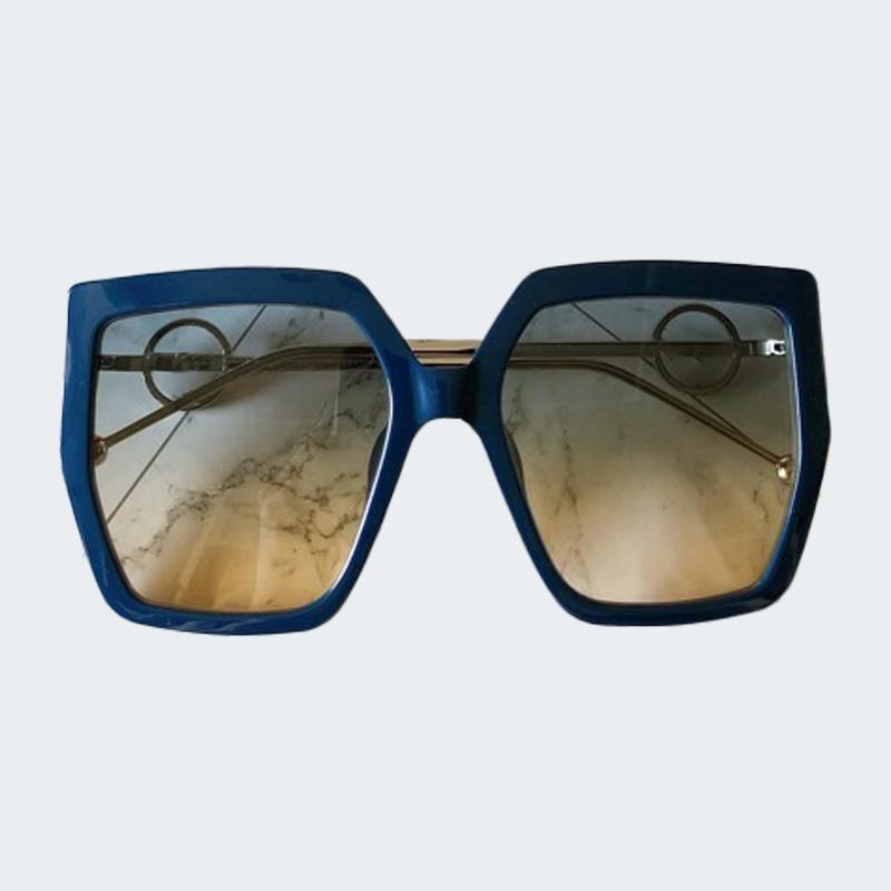 Güneş Gözlüğü 2021 Kadınlar Marka Tasarımcısı Retro Çerçeve Büyük Güneş Gözlükleri Kadın Vintage Zincir Oculos Feminino ile Degrade