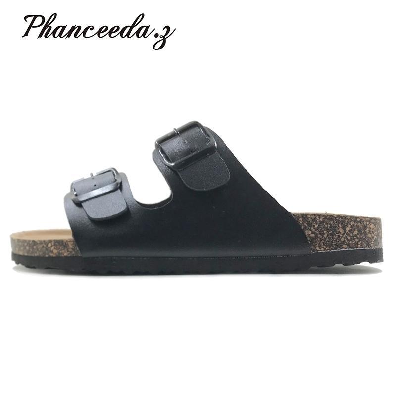 Nouveau Summer Style Chaussures Femme Sandales Liège Sandal de Cork Top Top Boucle De La Boucle Casual Flip Flop Plus Taille 6-11 Gratuit S Y200423