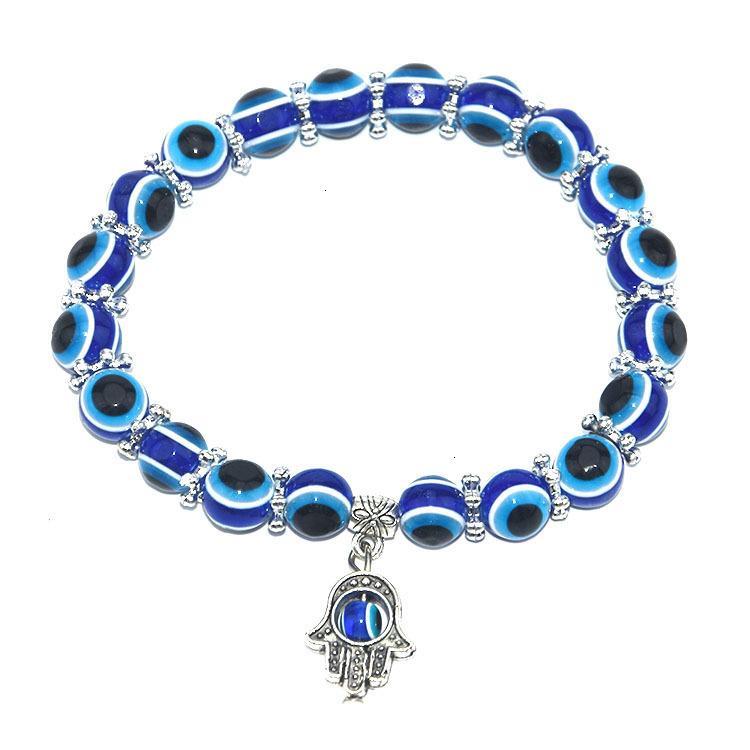 Männer Frauen Augen Türkei Böse Blaue Perlen Armbänder Charme Fatima Freundschaft Armband Armreifen Großhandel Schmuck