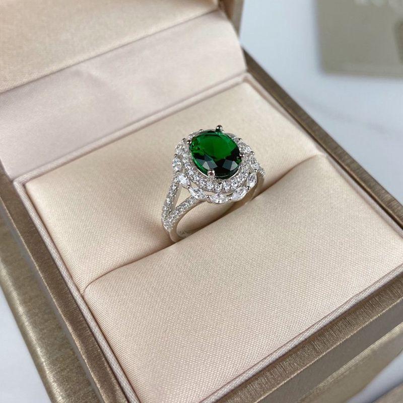 Verastore 18 كيلو الذهب البطانة حلقات جديدة عالية كوليتي الزمرد الزركون الماس خواتم للنساء مجوهرات الزفاف الفاخرة