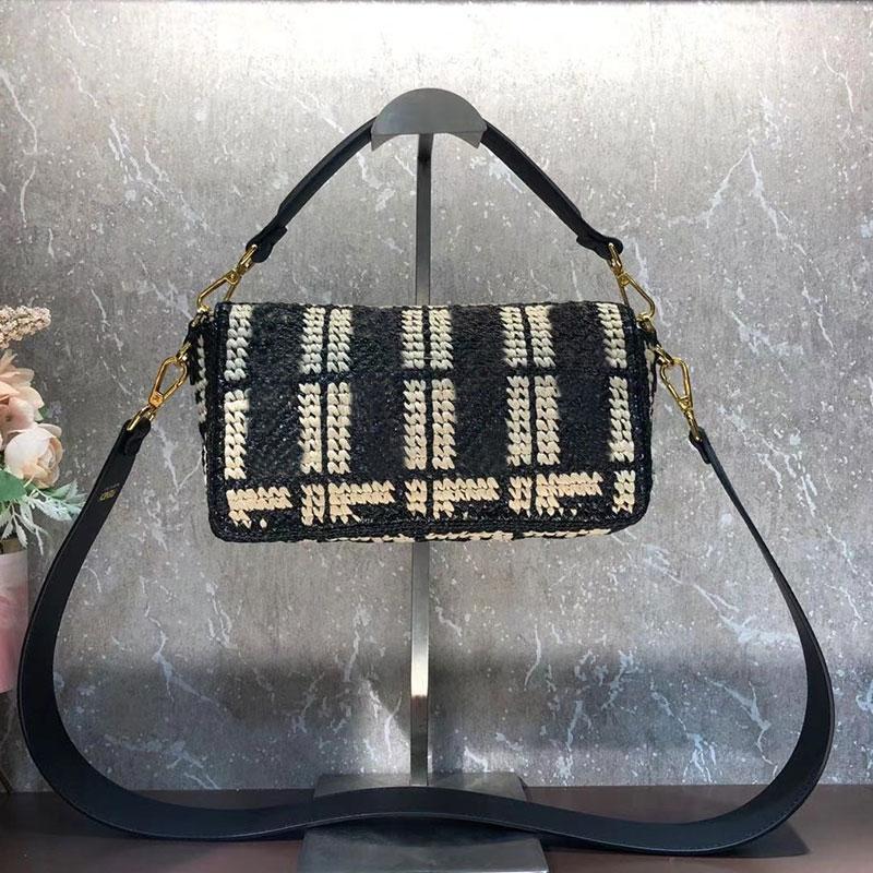 Echte Top Handtasche Taschen Frauen Messenger Schulter Baguette Crossbody Woven Bag Bag Qualität Geldbörse Leder Lady Hvbjp