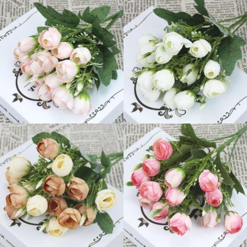 15 Мини Прекрасный шелковый пион искусственные цветы свадебный букет фальшивый розовый букет свадьба семьи украшения партии DIY1