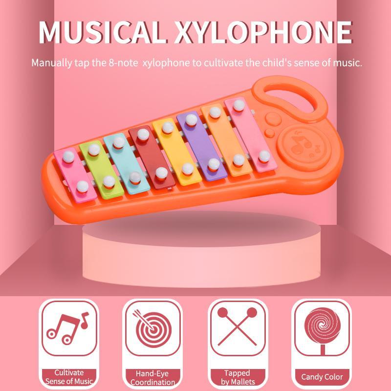 Небольшой музыкальный инструмент Игрушка ABS кадров ксилофон Дети Дети Музыкальные игрушки Смешные Детские развивающие игрушки Подарки