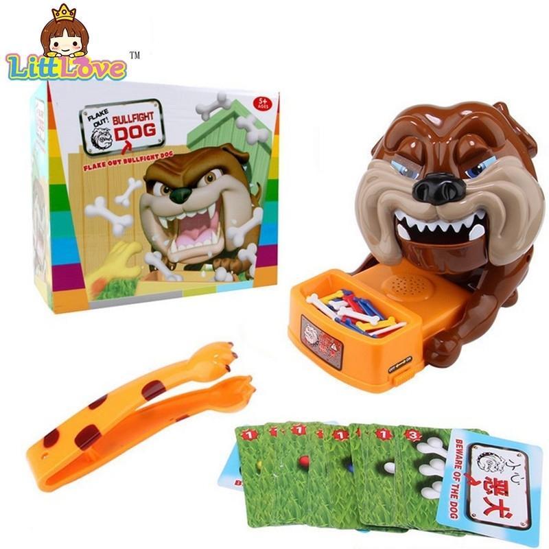 Littlove Flake engraçado para fora Bad Dog Bones Cartões Tricky Toy Games Parent-Child Kid jogando brinquedos para crianças Y200428