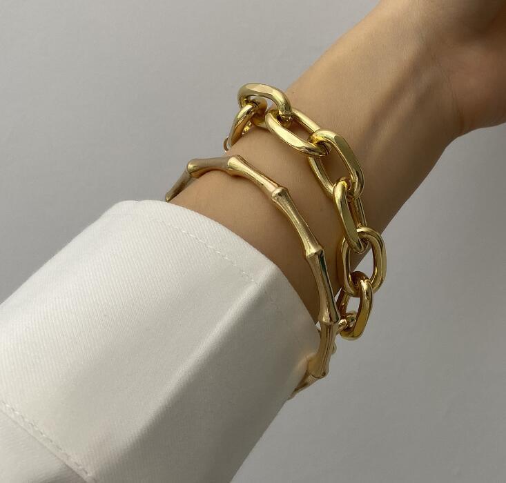 Ladies retro coin multi-layer jewelry temperament versatile bamboo chain creative bracelet GD759