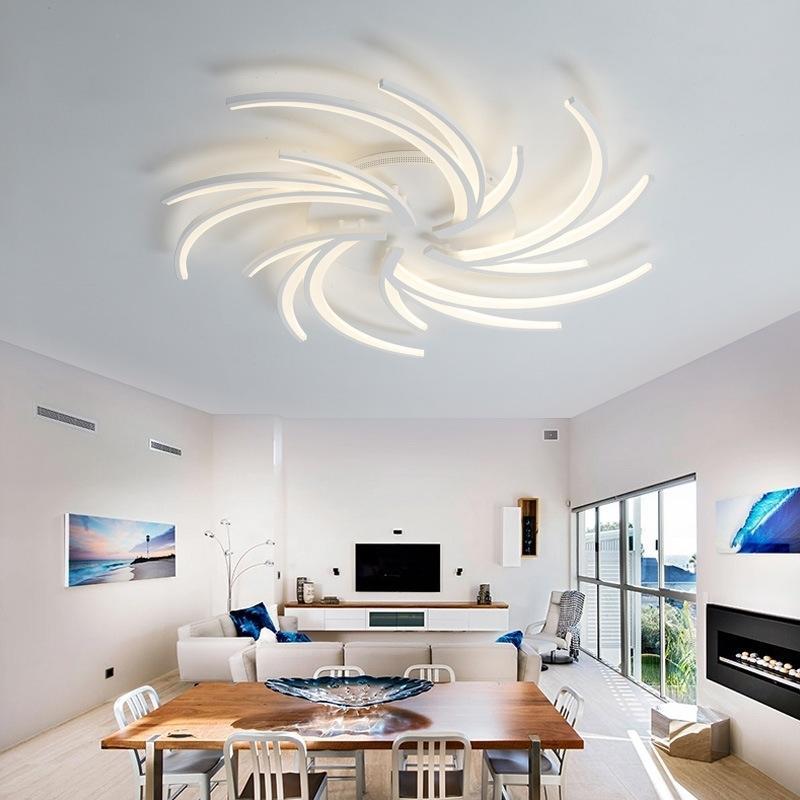 2021 NOUVEAU Éclairage moderne mené de lustre au quatrième salon de séjour cuisine décoration de la maison de lumière de lumière de lumière de plafond 0onv