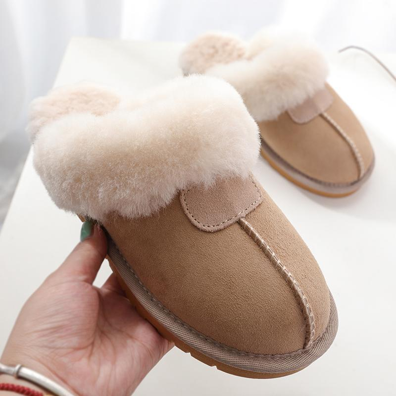 Natural Sheepskin Fur Slippers Fashion Female Winter Slippers Women Warm Indoor Top Quality Soft Wool Lady Home Shoes