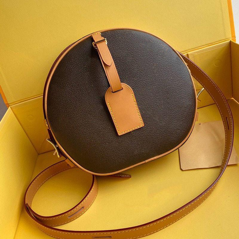M43514 حقيبة Luxurys Petite Boite Chapeau Handbag محفظة Original جلد البقر تقليم قماش المصممين حقائب الكتف crossbody رسول