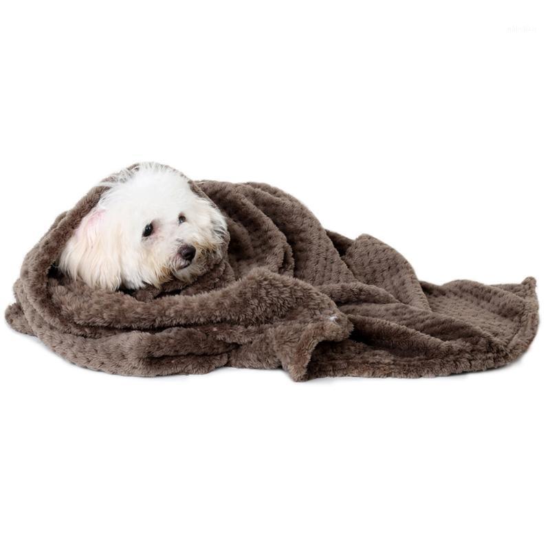 Mat Kalınlaşmış Kanepe Kanepe Flanel Pet Yavru Mobilya Koruyucu Katı Yumuşak Köpek Battaniye Yastık Kapak Yatak Ev Için Için