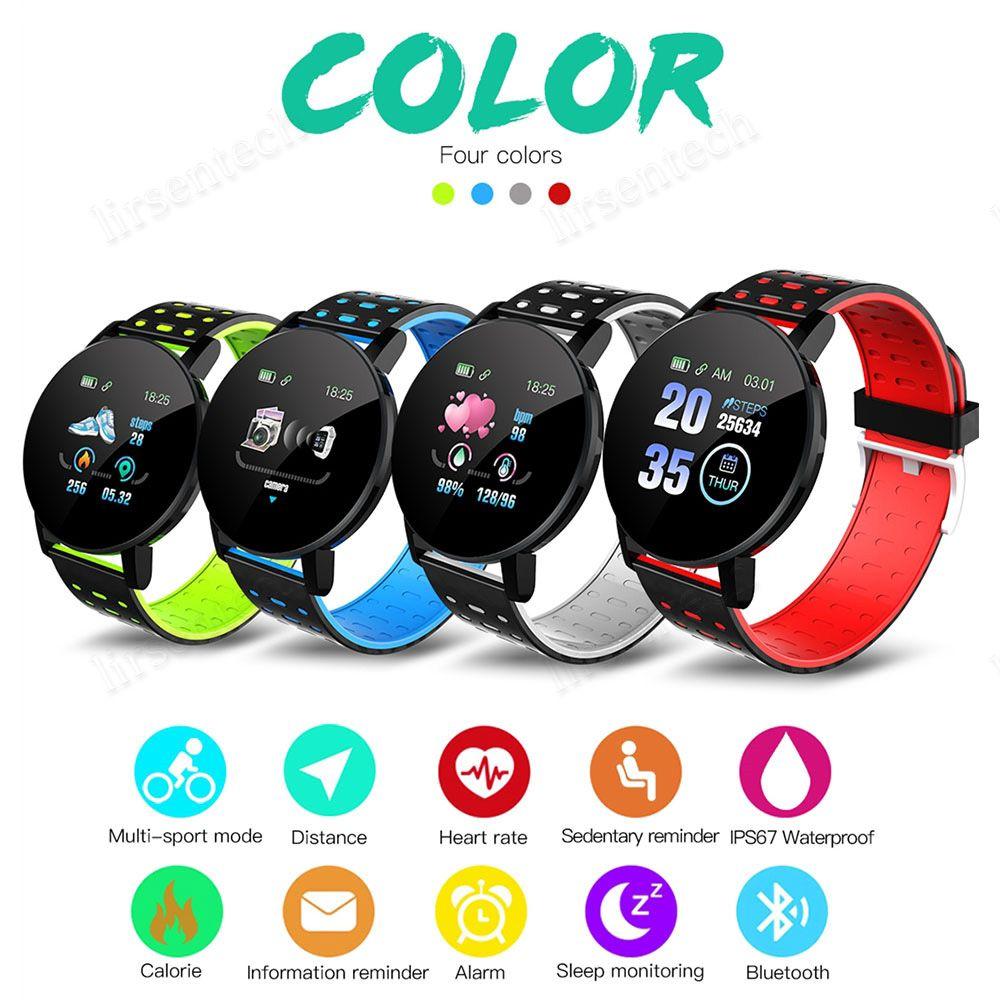 119 زائد الذكية سوار الضغط Smartband مع الدم معدل ضربات القلب ومقاوم للماء شاشة ملونة الذكية معصمه الرياضة الذكية ووتش للياقة البدنية المقتفي