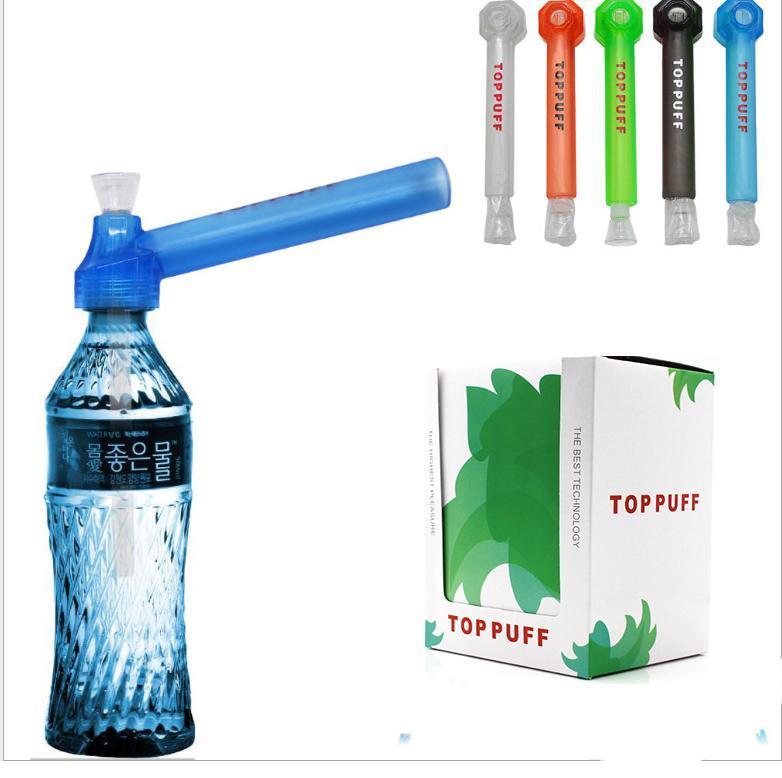 de haute qualité de l'eau voyage haut Puff toppuff Pipe portable de verre de vis instantanée portable sur support bouteille OEM