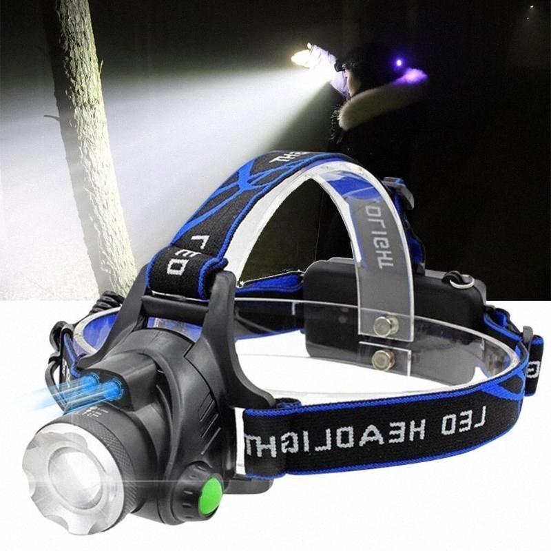Sensor de faros de infrarrojos USB recargable V6 / L2 / T6 Inducción de LED Pesca luz de la cabeza de la lámpara linterna Por 18650 g3g8 #