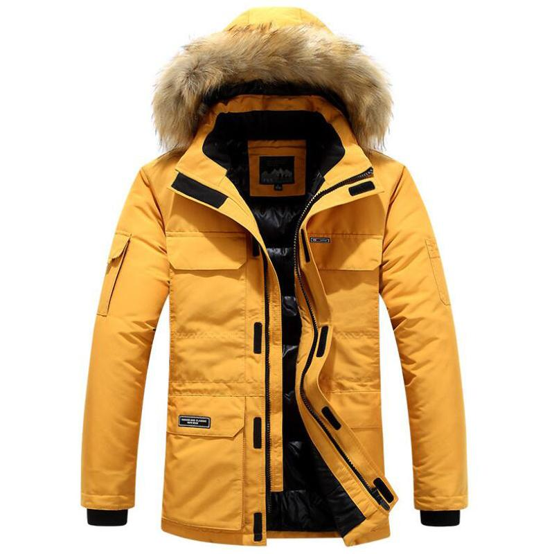 Winter Thicken Jacket Cotton Clothing Long Hooded Removable Collar Trend Coats Casacos Men Fashion Down Parkas Plus Size 5XL 6XL 201022