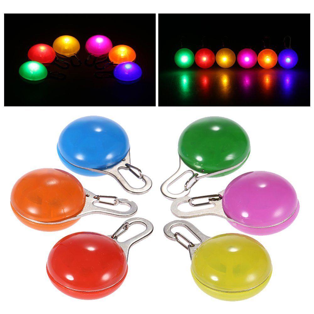 Hundehalsbänder Multi Farben LED PET Pendant Bunte Licht Blinkende Leuchte Kragen Liefert Glühsicherheit Tag