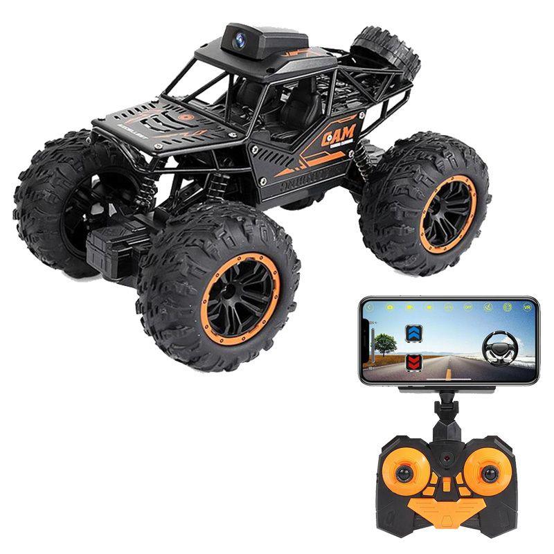 WiFi FPV FOUT-Road Telecomando Auto con 720p Camera RC Auto Giocattoli per auto Video remoto ad alta velocità Video off-road Trucks per bambini Bambini 201105