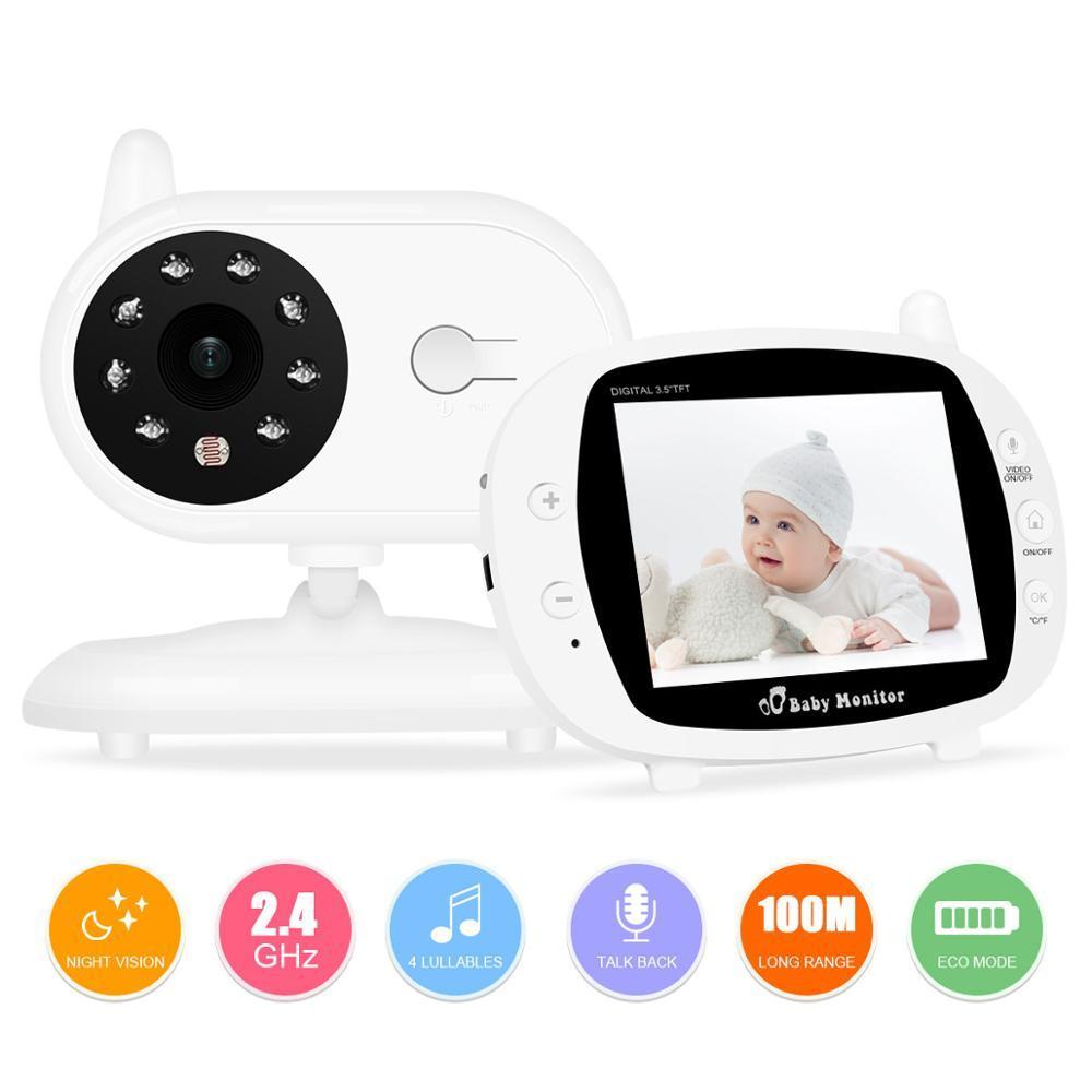 جديد 3.5 بوصة 2.4 جيجا هرتز فيديو لاسلكي فيديو LCD الرقمية رصد الطفل عالية الدقة للرؤية الليلية الطفل مربية الأمن كاميرا