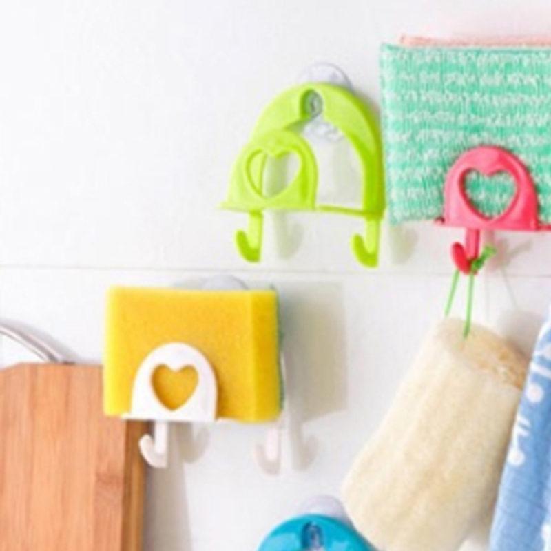 Heißer verkaufen starke selbstklebende Tür Wandaufhänger Handtuch Mopp Handtasche Halter Haken für hängende Küche Badezimmer Zubehör