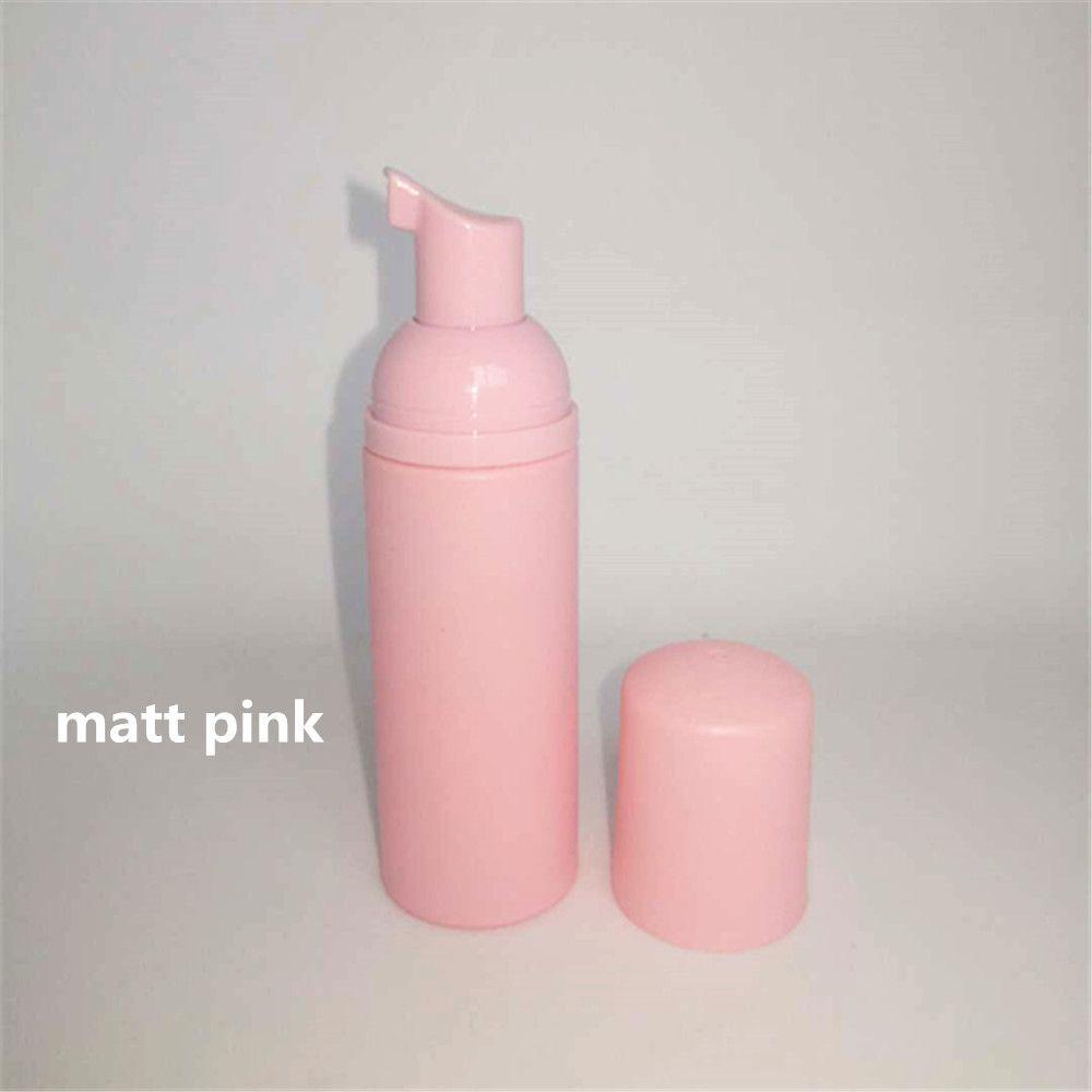 12ps 60ml Pembe Plastik Köpük Pompası Doldurulabilir Kozmetik Şişe boşaltın altın ile Temizleyici Sabun Makinesi Şampuan şişesi kirpiklere