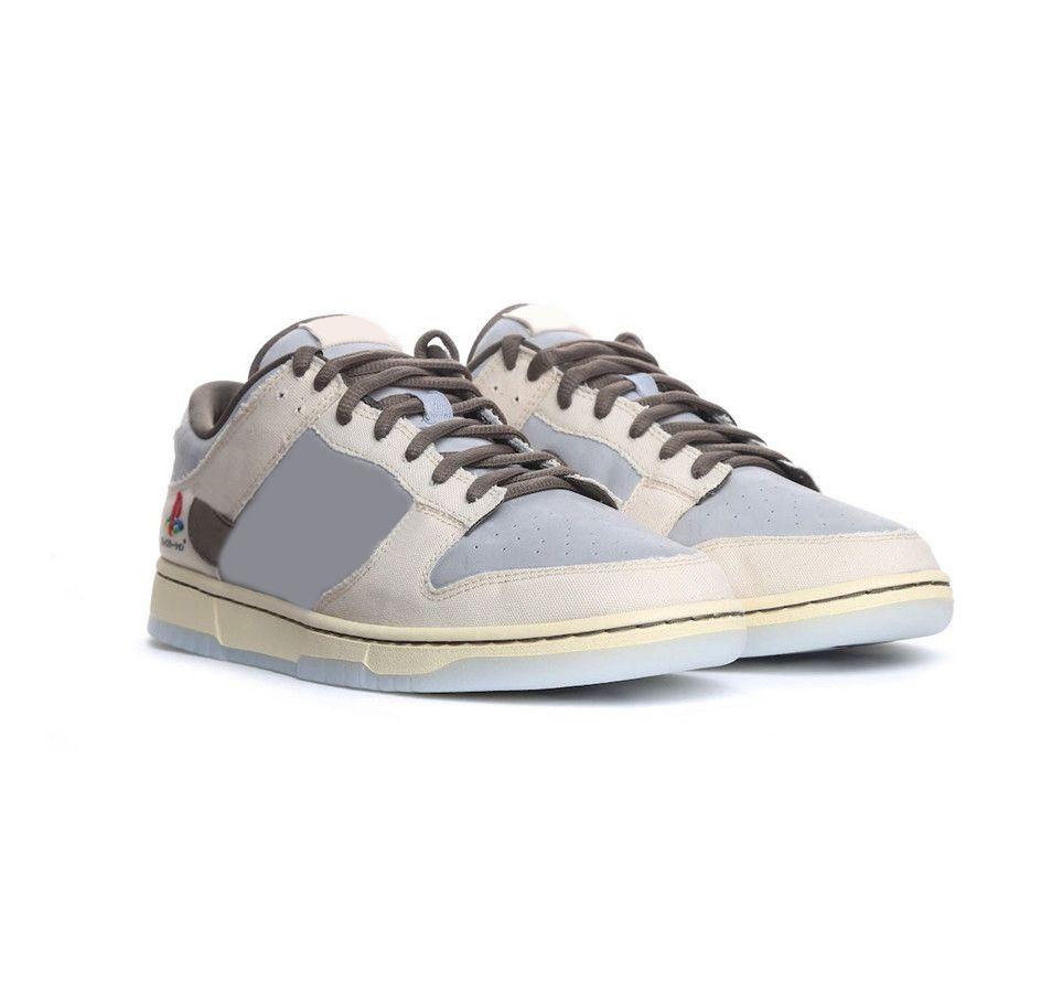 2020 جديد الإصدار ترافيس سكوت x بلاي ستيشن x sb دونك صبار جاك منخفضة سكيت أحذية الرجال النساء الأبيض الرمادي اليابان zapatos رياضة الرياضة