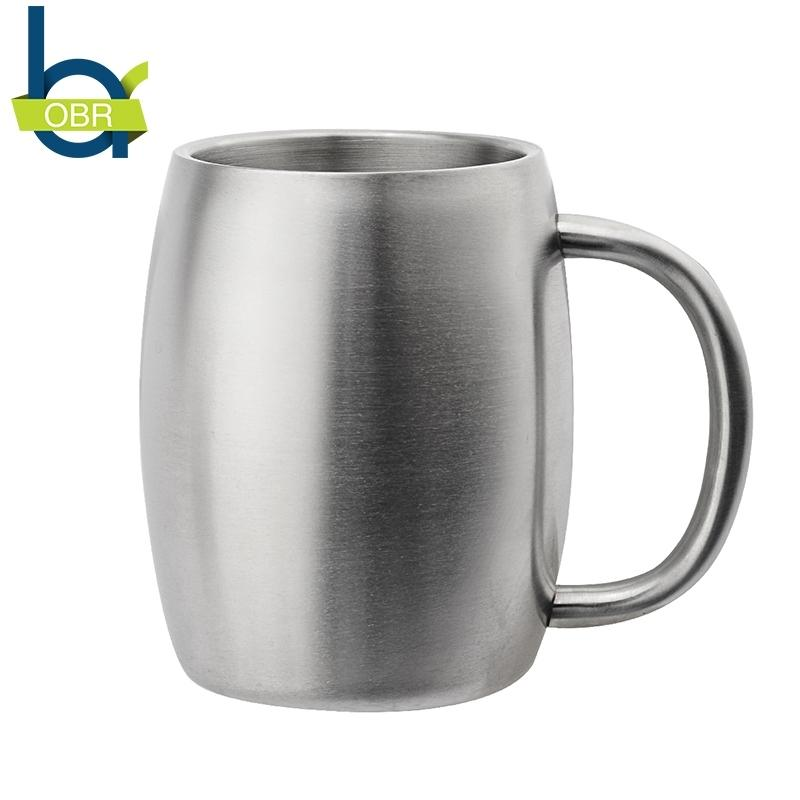OBR 14oz 400ml Stainless Steel Coffee Mug Beer Cup Double Wall Thermo Mug Wine Tumbler Travel Mugs for Tea Coffe Cup Moscow mule T200104
