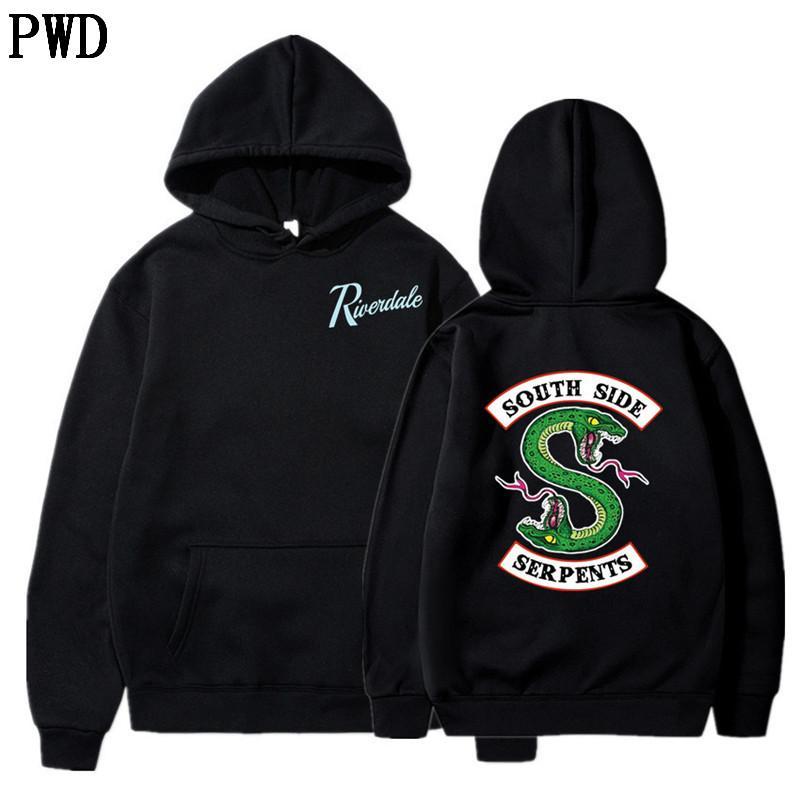 Amerikan TV Riverdale Boy Hoodie Polerones Hombre Southside Yılanlar Streetwear Hip Hop Kapüşonlu Erkek Hoodies ve Sweatshirt L-1