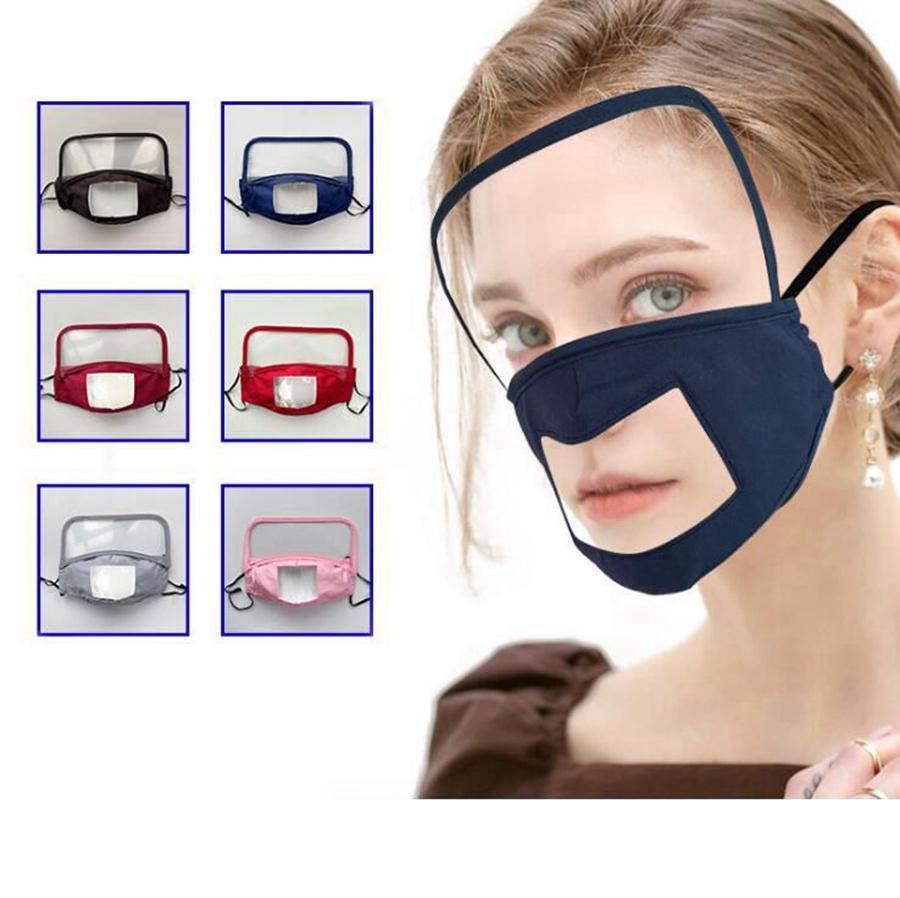 Дети Face 2 1 LJJO8234 маска Clear Clear взрослых Визуальные Глухие глаз щит с Mute Shield Full В Cover Защитные маски для детей Face 2 Tcvk