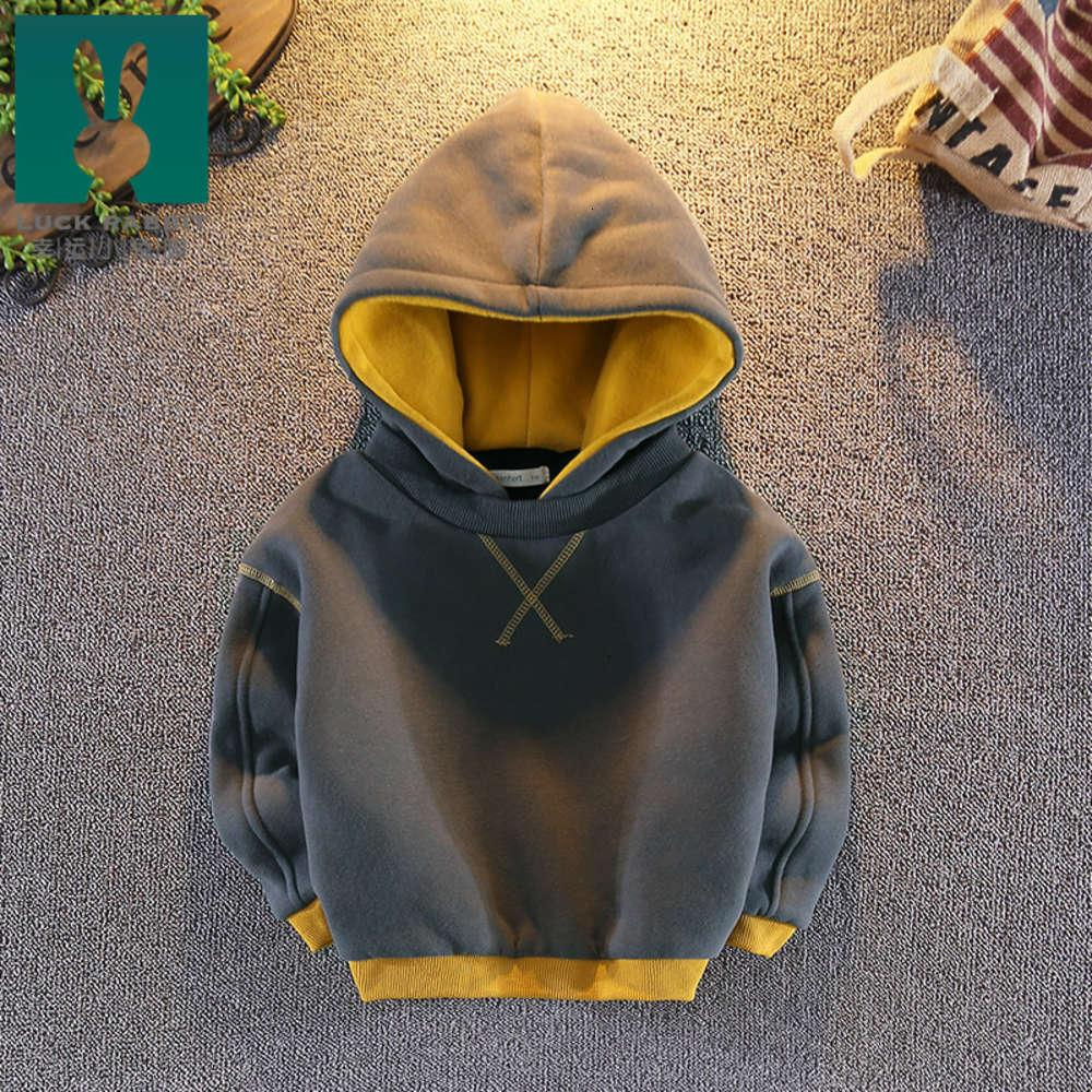 Baby clothing boys' New Plush 2019 Hooded sweater winter cloth Children's top fashion