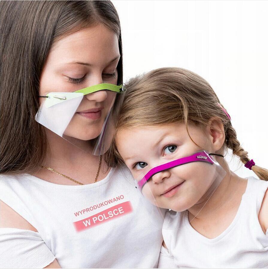 Trasparente Maschera anti-sputi viso protezione Shield Cancella Maschere traspirante sordomuto Lip Lingua Bocca copertura Adulto Bambino LJJP779
