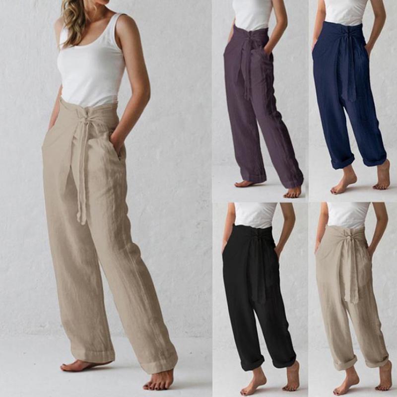 Yeni Pantolon Kadın Sonbahar Pamuk Casual Pantolon Serbest Kadınlar Pantolon Uzun Süre 3026 06 Yaz Pantolon Cepler Çan-fondip