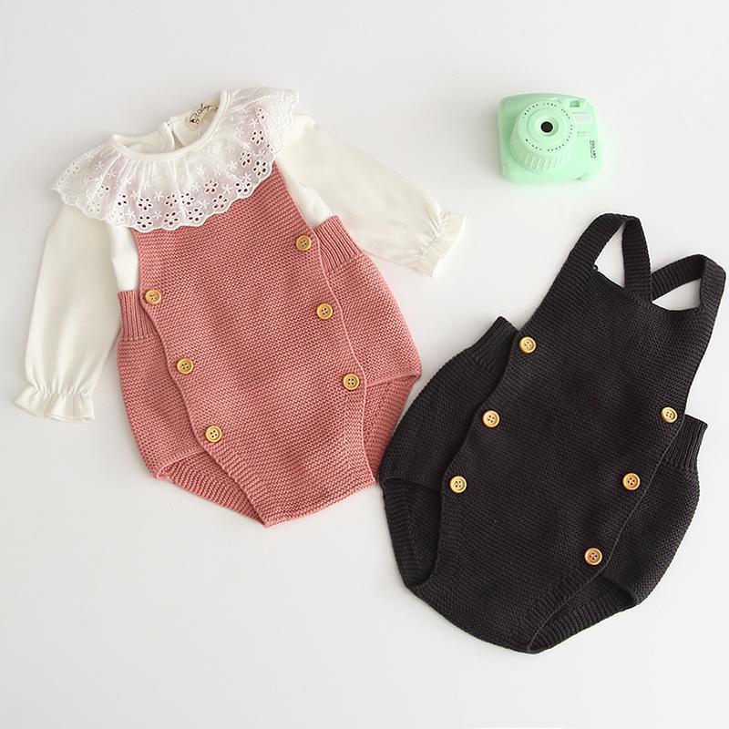 Coreano estilo japão outono recém-nascido algodão roupas macacão infantil meninas bebê meninos moda jumpsuit roupas1