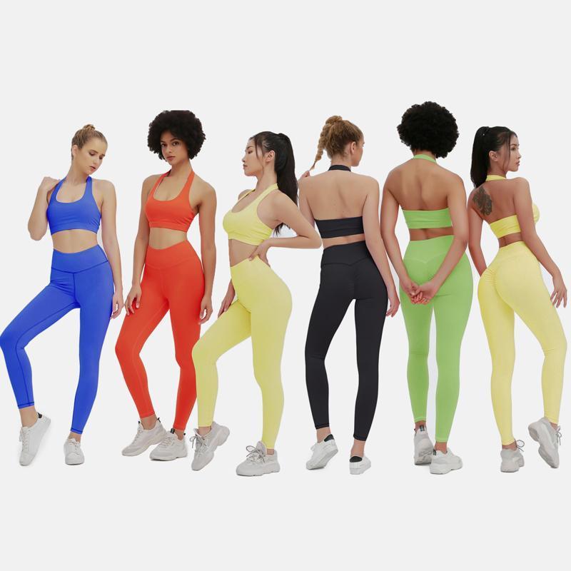 Универсальные наборы йоги Подходящие наборы для женщин бесшовные набор.