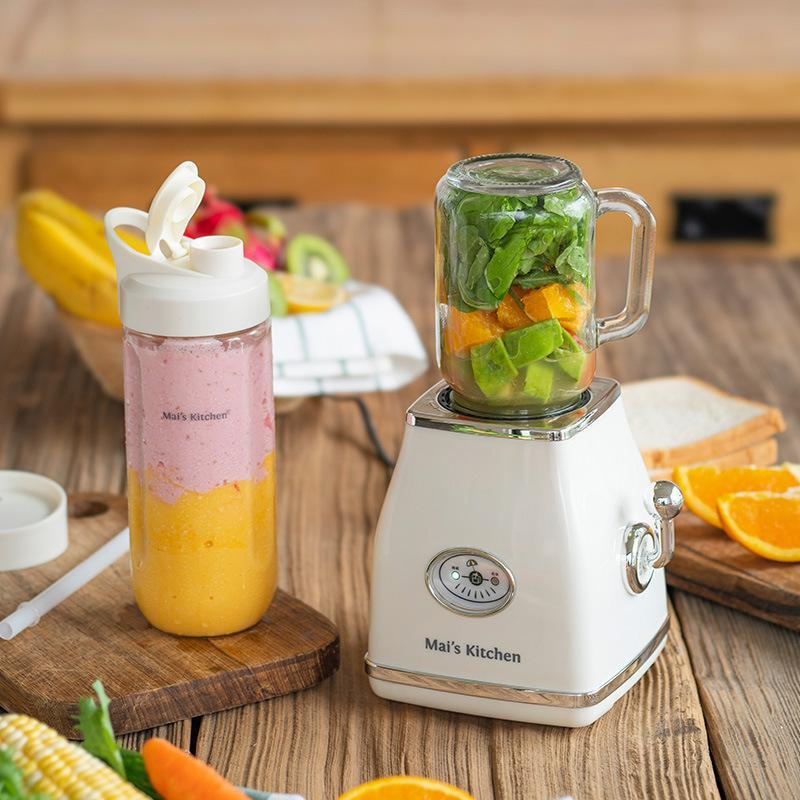 Vintage Design Соковыжималка машина Соевое молоко Maker Mini Бытовая соковыжималка Cup Blender Электрический Соковыжималка Smoothie Оранжевый соковыжималка