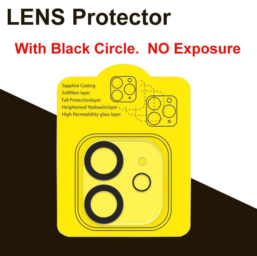 NEW 3D تحديث دائرة سوداء عدسة كاميرا زجاج حامي للحصول على اي فون 12 MINI برو ماكس iPhone2 عدسة زجاج السينمائي التقاط صور دون التعرض