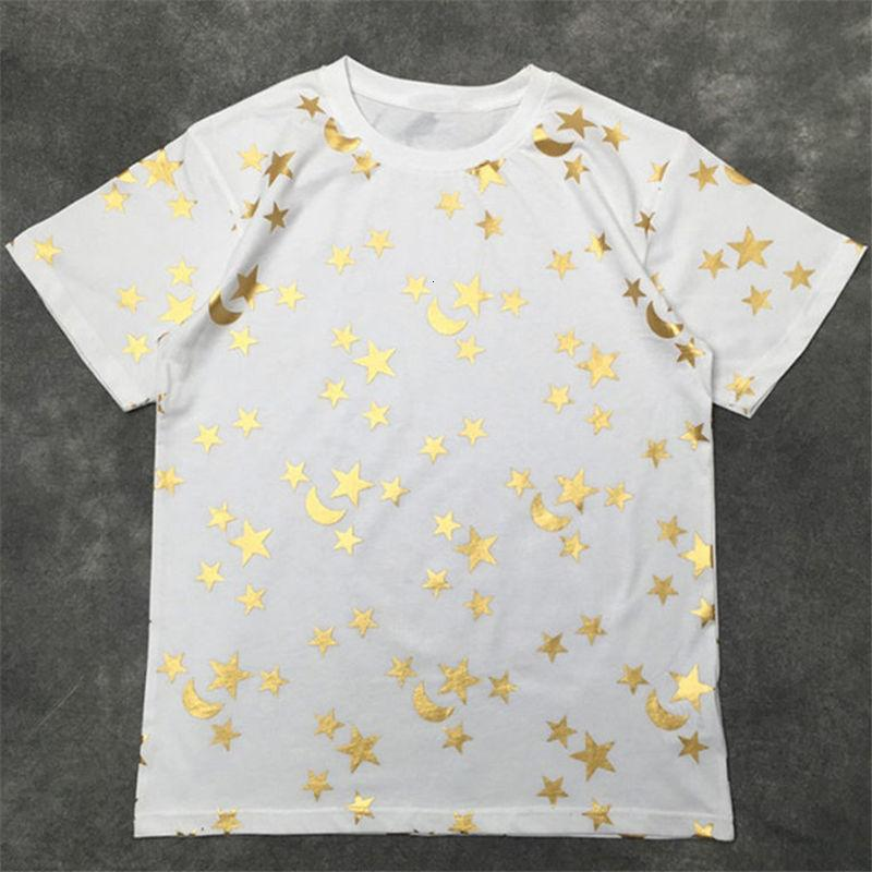 Street Fashion Famous Mens Shirt 20ss High Quality Stars Print Pullover Polo Short Sleeves T shirts Men Women Couples Stylist Tee