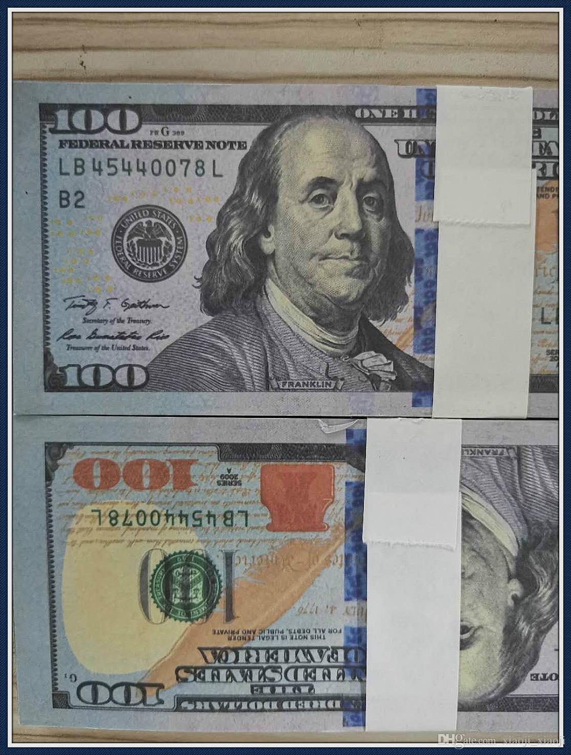 Coleção Prop Dinheiro Fake 100, presentes 20 50 100Euro, dólar, dinheiro falso 876 Filme UK Faux Money Billet 222 E Billet Play Hfmra