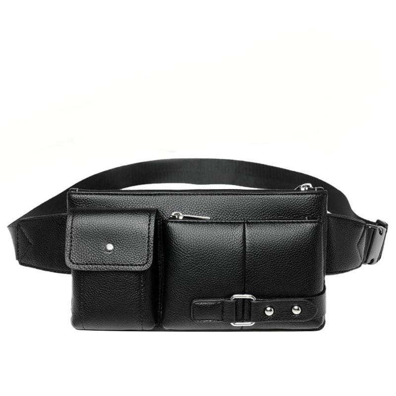 Paquete de Fanny Black Impermeable Money Bel Bag Hombres Purso Monedero Viaje Cartera Cinturón Macho Outdoor Deportes Cintura Bolsas