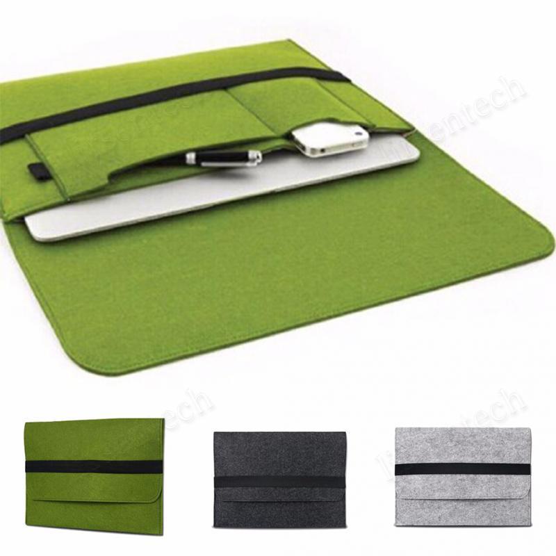 """غطاء حقيبة كمبيوتر محمول ل Macbook Pro / Air / Retina Notebook Sleeve حقيبة 13 """"15"""" الصوف شعرت حقيبة كمبيوتر الحقيبة"""
