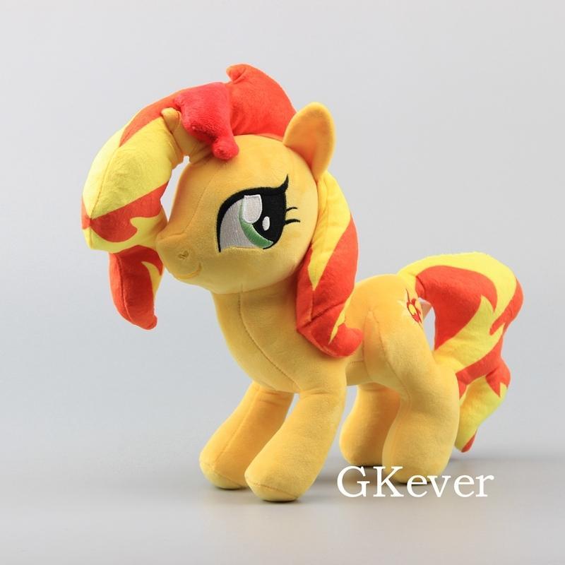 "Anime Cute Horses Sunset Shimmer Soft Plush Toy Dolls Stuffed Animals 12"" 30 CM Girl Gift 201027"