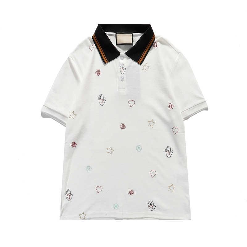 Moda Hombres Verano Polos Nueva Llegada Para Hombre Casual T SHIRT Camisas de alta calidad Polos de alta calidad Polo transpirable Polo para masculino 2 colores S-2XL