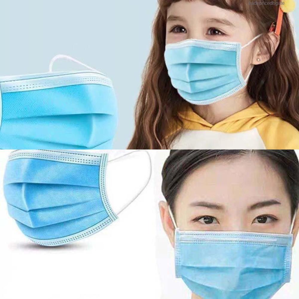 Lavable réutilisable pur coton adulte Smo enfants Filtre Valve de reniflard Visage V4wc Masque anti-poussière Flbi
