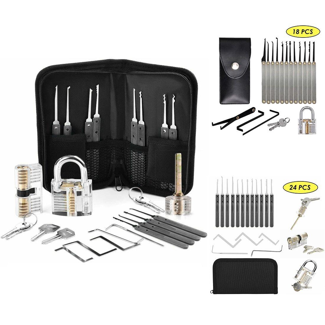 Liga de aço prática de bloqueio de bloqueio conjunto chave chave ferramentas de mão quebrado ferramenta chave combinação cadeado hardware conjunto acessórios chave