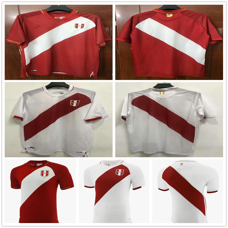 2020 2021 New Peru Soccer Jersey GUERRERO FARFAN CUEVA FLORES YOTUN TAPIA Customize 20 21 Perú Home Away Adult Football Shirt Uniform